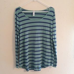Lularoe long sleeve striped shirt